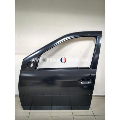 801016598R Дверь передняя левая (под молдинг) Dacia Logan (2005-2012) Оригинал