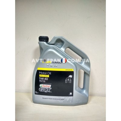 7711943691 Масло Renault Groupe Castrol GTX RN 5W-40 RN 710 5L Оригинал