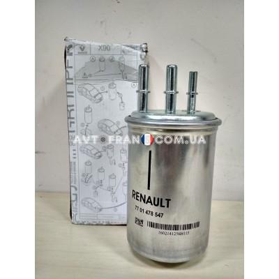 Топливный фильтр 1.5 DCI Renault Logan, Renault Logan MCV Оригинал 7701478547, 7701478546