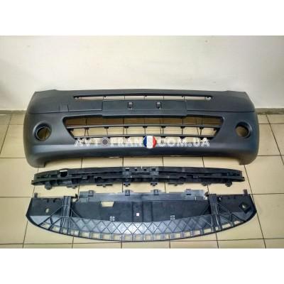 7701478129 Бампер передний с ПТФ (комплект) Renault Kangoo 2 (2008-2013) Оригинал