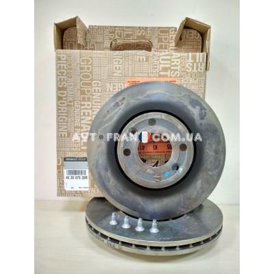 Диски тормозные вентилируемые Renault Sandero 2 Оригинал 402067025R (комплект 2 шт.)