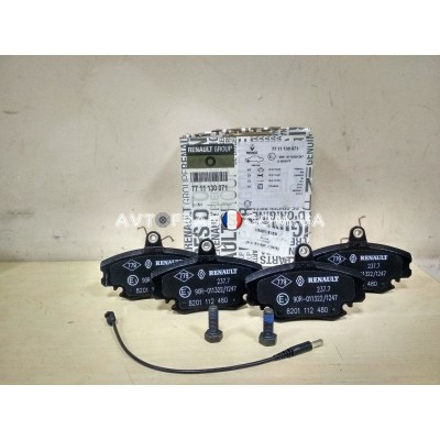 7711130071, 410602192R Колодки тормозные передние Renault Symbol (2009-2013) Оригинал