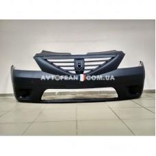 6001549312 Бампер передний без ПТФ Dacia Logan MCV (2007-2008) Оригинал