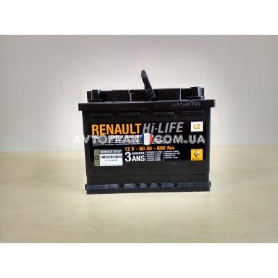 7711238597 Аккумуляторная батарея 60 Ah 600 A Renault Оригинал